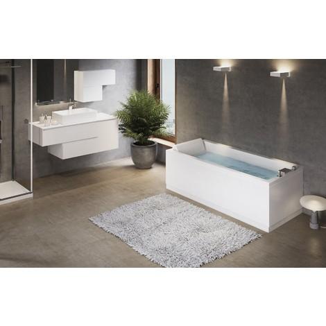 Novellini vasca da bagno rettangolare serie calos con telaio e pannelli