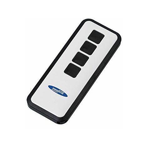 NOVO Ferm 80800407Porte de Garage Télécommande émetteur manuel Mini NOVOTRON avec keeloq chiffrement de code amovible Noir/blanc