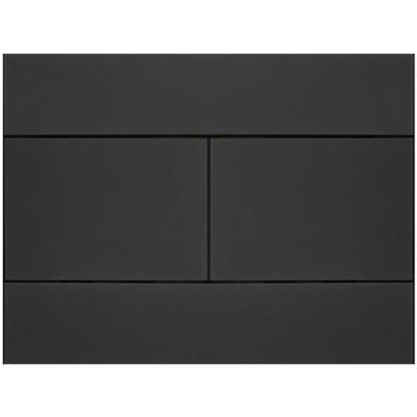 Nox Placca di Comando Nero per Sanitari WC – Design a Doppio Scarico