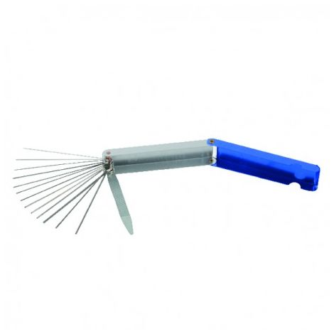 Nozzle cleaning needle with file
