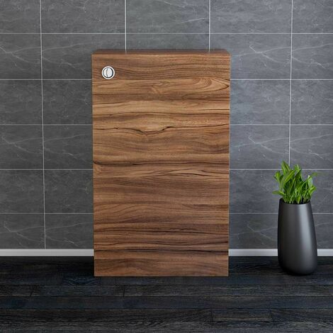 NRG 500mm Bathroom Toilet Back to Wall Unit with Concealed Cistern Furniture Units Calm Walnut