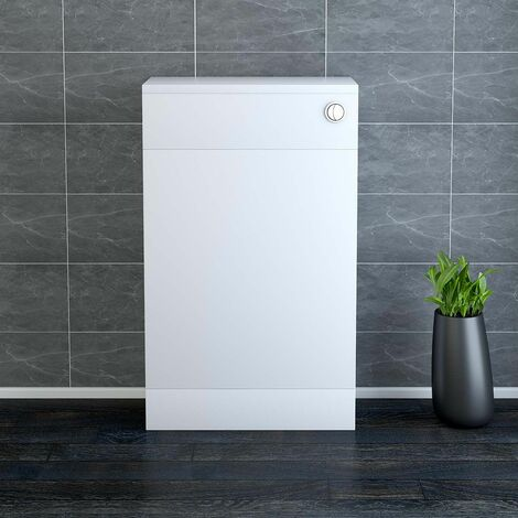 NRG 500mm Bathroom Toilet Back to Wall Unit with Concealed Cistern Furniture Units Calm White