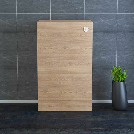 NRG 500mm Bathroom Toilet Back to Wall Unit with Concealed Cistern Furniture Units Light Oak