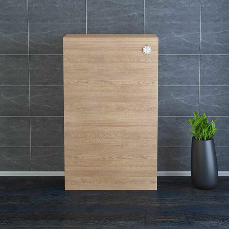 NRG 500mm Light Oak Toilet Cabinet Back To Wall WC Unit Bathroom Furniture
