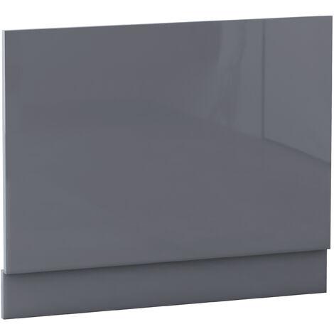 NRG Bath Panel Bathroom Moisture Resistant Wood MDF End Bath Panels Gloss Grey 750mm
