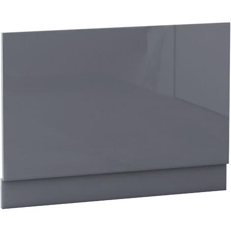 NRG Bath Panel Bathroom Moisture Resistant Wood MDF End Bath Panels Gloss Grey 800mm