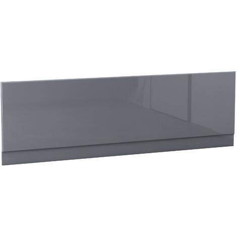 NRG Bath Panel Bathroom Moisture Resistant Wood MDF Front Bath Panels Gloss Grey 1700mm