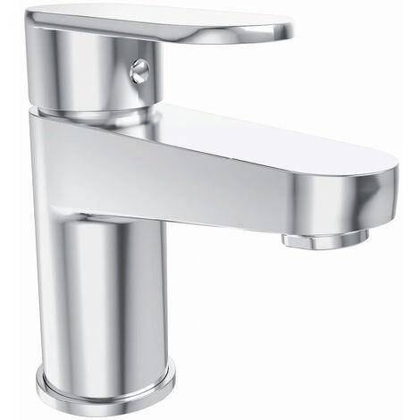 NRG Modern Basin Mixer Tap Bathroom Chrome Single Lever Action Mixer Taps
