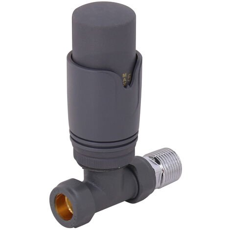 NRG Standard Anthracite Straight Thermostatic Radiator Valve Central Heating Taps