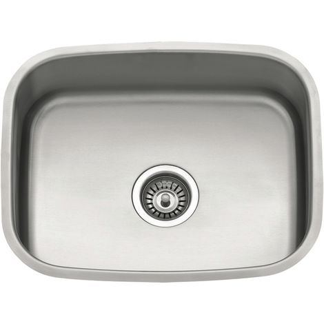N.S.S - Large Undermount Sink 500 x 390 bowl - Stainless Steel