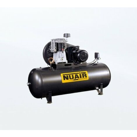 Nuair - Compresseur bi-étagés marche lente 7,5CV 5,5kW 500L 11 bar - NB10/7.5FT/500ML