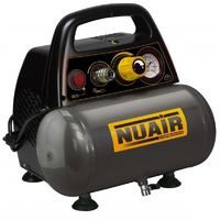 Nuair - Compresseur Silencieux 6 litres 8 bars 11 m3/h - NEW VENTO OL195/6