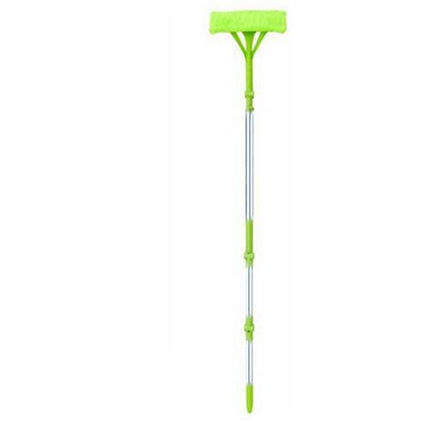 Nueva telescopica De Alta subida de cristal esponja de la limpieza de la fregona de limpieza Cepillos Limpiador Liquido de los vidrios del cepillo del polvo facil de limpiar las gafas, Verde