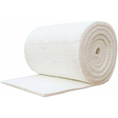 Nuevo Manta Fibra Ceramica 60cm x 10cm Manta ignífuga de algodón y Fibra de cerámica para Estufas de Madera y Chimenea, Blanco Estufa Bioetanol Chimenea