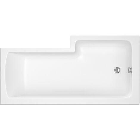 Nuie 1500mm x 850mm Left Hand Square Shower Bath - WBS1585L