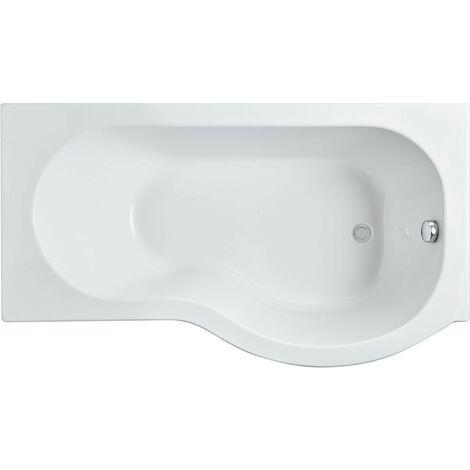 Nuie 1500mm x 850mm Right Hand P Shape Shower Bath - WBP1585R