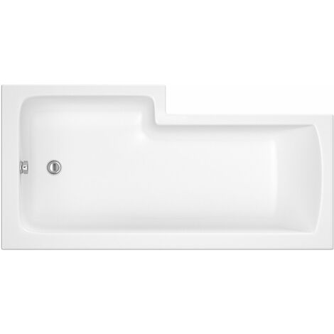 Nuie 1500mm x 850mm Right Hand Square Shower Bath - WBS1585R