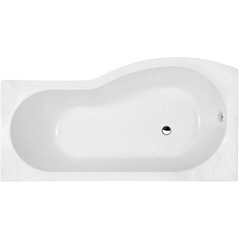 Nuie 1500mm x 900mm Left Hand B Shape Shower Bath - WBB1585L