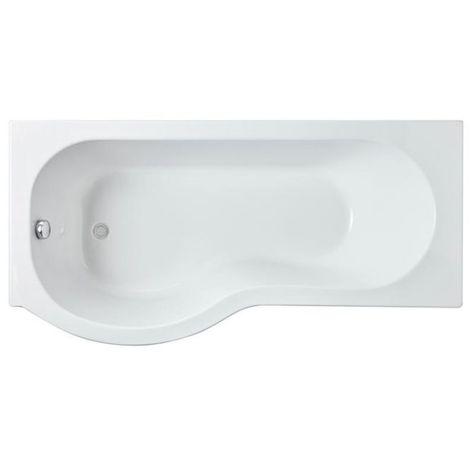 Nuie 1600mm x 850mm Left Hand P Shape Shower Bath - WBP1685L