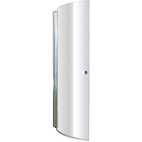 Nuie 720mm Curved Bath Screen with Knob - NCS1
