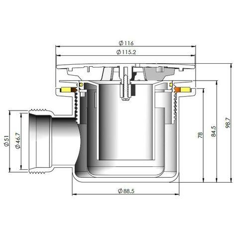 """main image of """"Nuie 90mm Mega Flow Shower Waste - Black"""""""