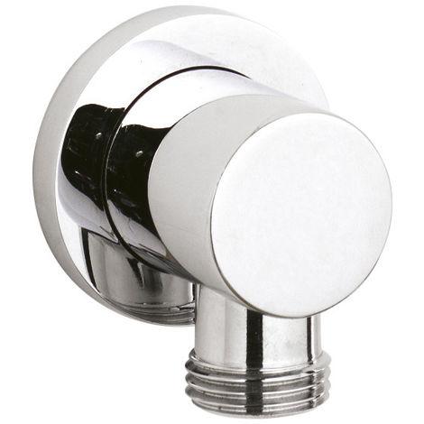 Nuie A3275 ǀ Modern Bathroom Shower Accessories Minimalist Round Outlet Elbow, 55mm x 45mm, Chrome