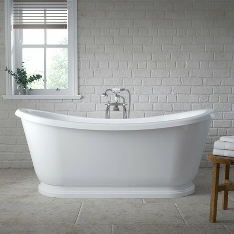 Nuie Alice Freestanding Roll Top Slipper Bath 1740mm x 800mm