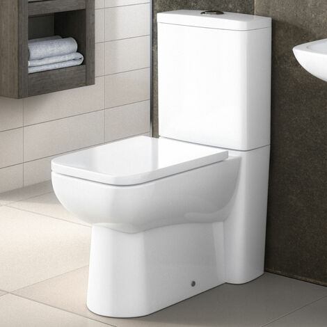 Nuie Ambrose Close Coupled Toilet with Push Button Cistern - Excluding Seat