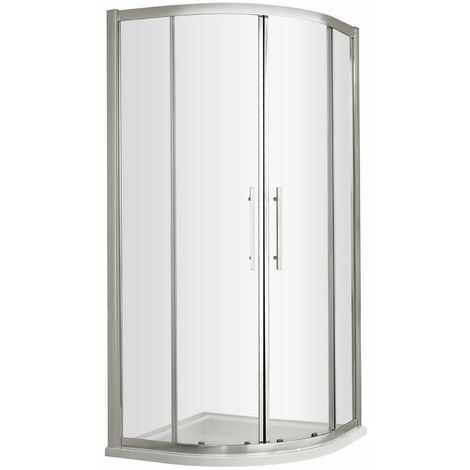 Nuie Apex Quadrant Shower Enclosure 1000mm x 1000mm with Shower Tray - 8mm Glass