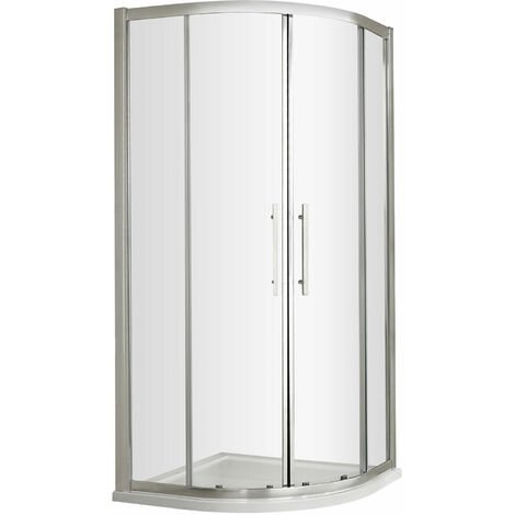 Nuie Apex Quadrant Shower Enclosure 800mm x 800mm with Shower Tray - 8mm Glass