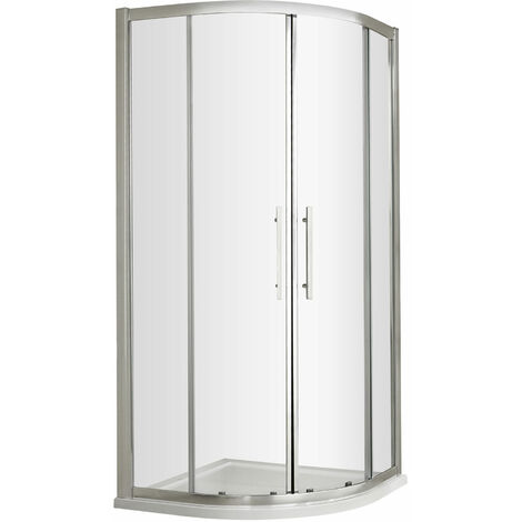 Nuie Apex Quadrant Shower Enclosure 900mm x 900mm with Shower Tray - 8mm Glass
