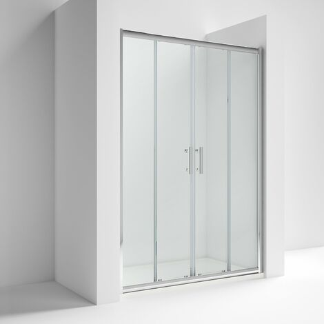 Nuie AQSLD14 Pacific Double Sliding Door | Pacific 1400mm Double Sliding Door, Polished Chrome