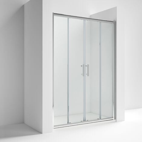 Nuie AQSLD16 Pacific Double Sliding Door | Pacific 1600mm Double Sliding Door, Polished Chrome