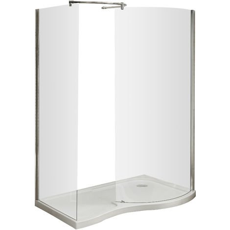 Nuie AQW Pacific Curved Walk-In | Pacific Curved Walk-In Enclosure, Polished Chrome