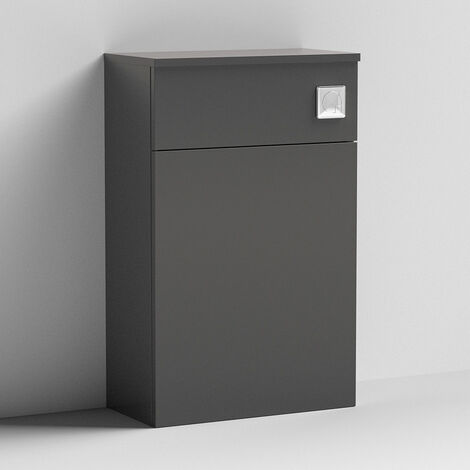 Nuie Arno Back to Wall WC Toilet Unit 500mm Wide - Gloss Grey