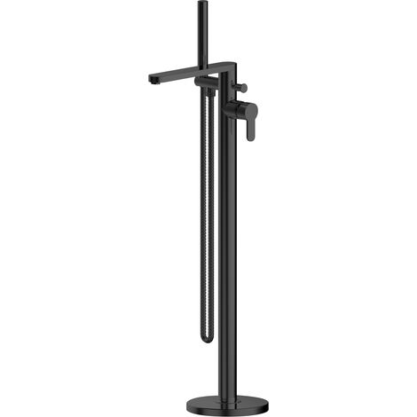 Nuie Arvan Freestanding Bath Shower Mixer Tap - Matt Black