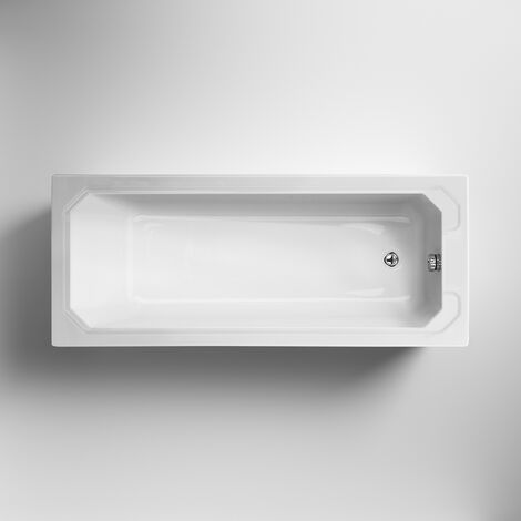 Nuie Ascott Single Ended Rectangular Bath 1700mm x 750mm 0 Tap Hole