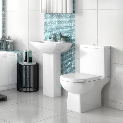 Nuie Asselby Bathroom Suite 1 Tap Hole