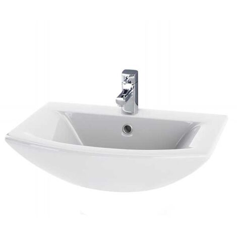 Nuie Asselby Wall Hung Cloakroom Basin 500mm Wide - 1 Tap Hole