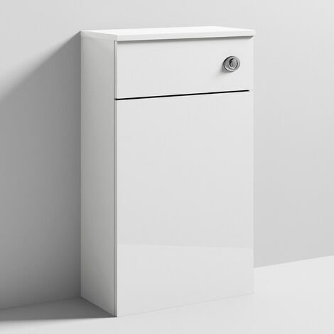 Nuie Athena Back to Wall WC Toilet Unit 500mm Wide - Gloss White