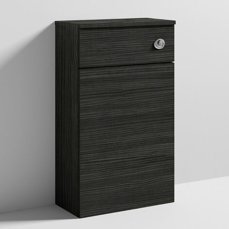 Nuie Athena Back to Wall WC Toilet Unit 500mm Wide - Hacienda Black