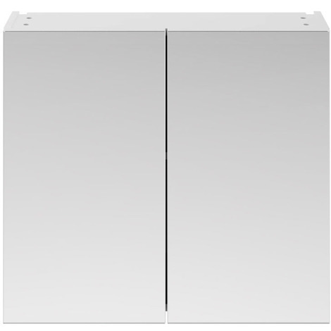 Nuie Athena Gloss White 800mm 2 Door Mirror Unit - OFF119