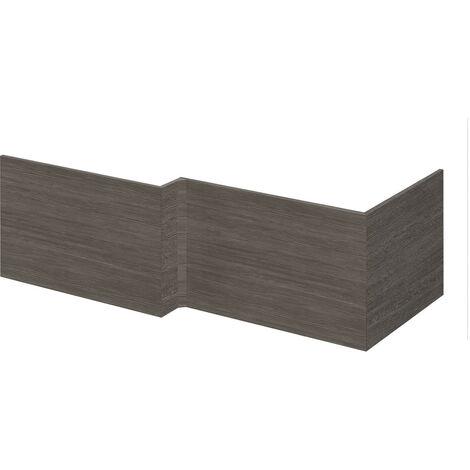 Nuie Athena Grey Avola Square Shower 700mm End Bath Panel - MPD531