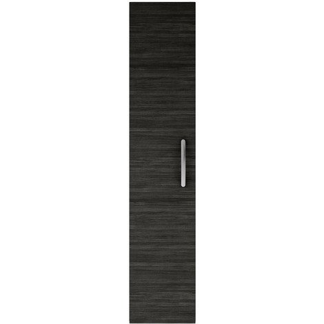 Nuie Athena Hacienda Black 300mm Single Door Tall Wall Hung Unit - MOD661