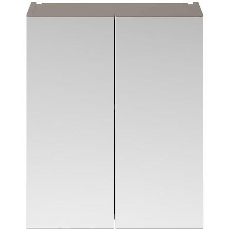 Nuie Athena Stone Grey 600mm 2 Door Mirror Unit - MOC523