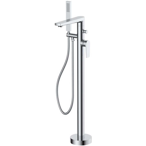 Nuie Bailey Round Freestanding Bath and Shower Mixer Tap - BAI321