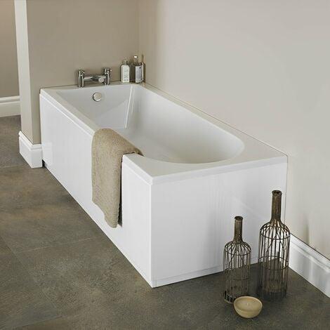 "main image of ""Nuie Barmby Single Ended Rectangular Bath 1700mm x 750mm - Acrylic"""