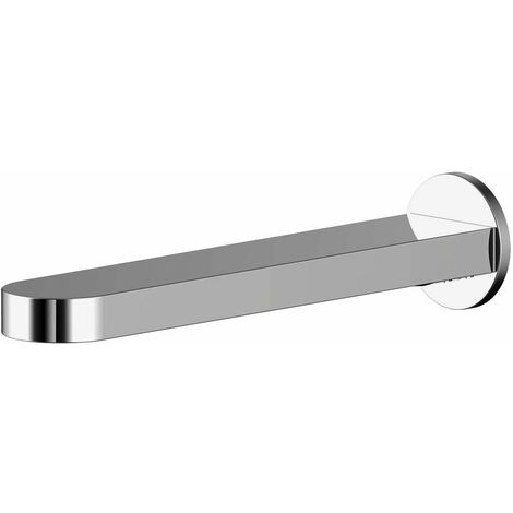 Nuie Binsey Wall Mounted Bath Mixer Tap Fixed Spout Chrome Bathroom Brass Body