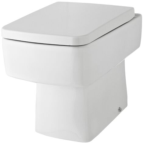 Nuie Bliss Back to Wall Toilet WC 520mm Projection - Excluding Seat