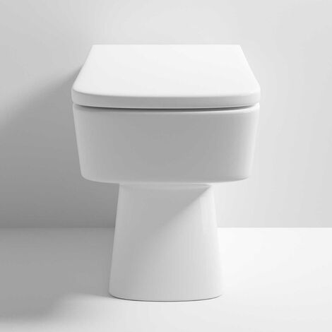 Nuie Bliss Back To Wall Toilet WC 520mm Projection - Soft Close Seat